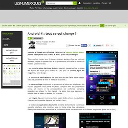 Android 4 : tout ce qui change !