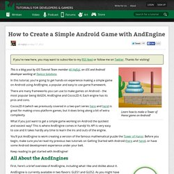 How to Create a Simple Android Game with AndEngine