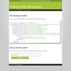 Android APK Decompiler