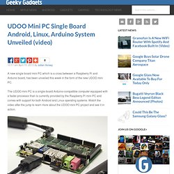 UDOO Mini PC Single Board Android, Linux, Arduino System Unveiled
