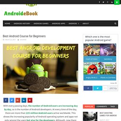 Best Android Course for Beginners - AndroidEbook