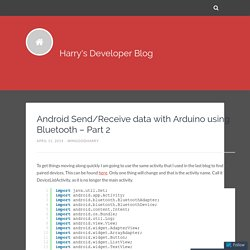 Android Send/Receive data with Arduino using Bluetooth – Part 2 – Harry's Developer Blog