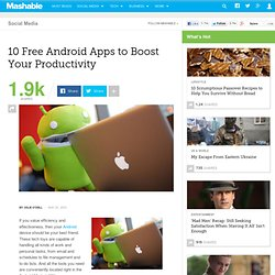 10 Free Android Apps to Boost Your Productivity