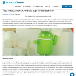 Tips to update your Android apps in the best way, Chicago