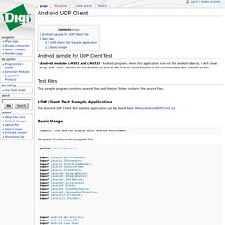 Android UDP Client - Digi Developer