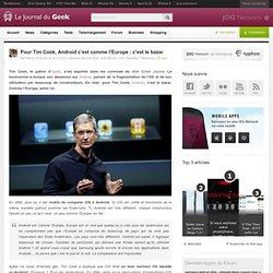 Pour Tim Cook, Android c'est comme l'Europe : c'est le bazar