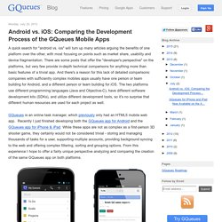 Android vs. iOS: Comparing the Development Process of the GQueues Mobile Apps