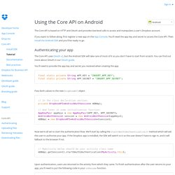 Android Core API - Dropbox