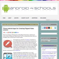 Three Android Apps for Creating Flipped Video Lessons