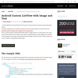 Android Custom ListView with Image and Text