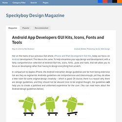 Android App Developers GUI Kits, Icons, Fonts and Tools-Speckyboy Design Magazine