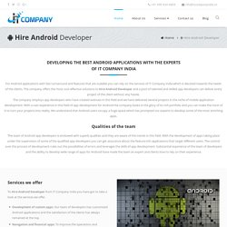 Hire Full Time Android App Developer India, USA, UK, Canada