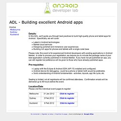 Android Developer Labs