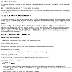 Hire Android Developers, Hire Android App Developer