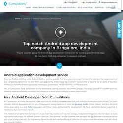 #1 Android App Development Company in Bangalore, India