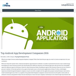 Top Android App Development Companies 2016 - IT Firms