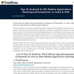Top 10 Android & iOS App Development Companies in India - 2020