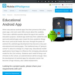 an award winning android app development company, delivering business &...