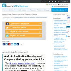 Android App Development for Education Sector