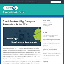 3 Must-Have Android App Development Frameworks in the Year 2020
