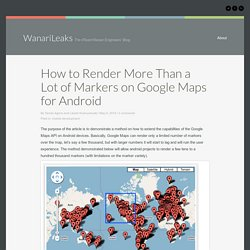 Android Development: More Than a Lot of Google Maps Markers