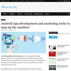 How can I promote app development and marketing tricks?