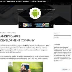 Latest News for Mobile apps development Mobilify