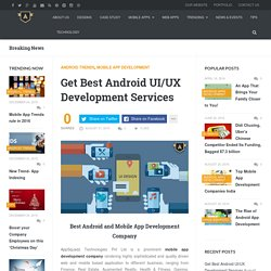 Get Best Android UI/UX Development Services
