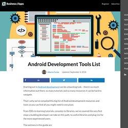 Android Development Tools List