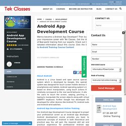 Android App Development Online Training Course