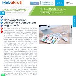 Android Mobile App Development Company – iOS App in Nagpur - Webakruti
