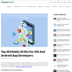 Top 30 Mobile UI kits for IOS and Android