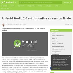 Android Studio 2.0 est disponible en version finale