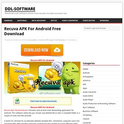Recuva APK For Android Free Download - ddl-software