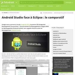 Android Studio face à Eclipse : le comparatif