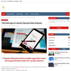 Education Online Arithmetic
