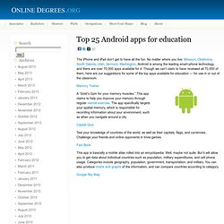 Top 25 Android apps for education