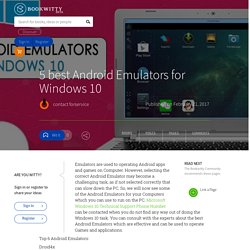 5 best Android Emulators for Windows 10