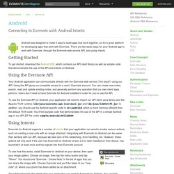 Android - Evernote Developers