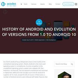 HISTORY OF ANDROID AND EVOLUTION OF VERSIONS FROM 1.0 TO ANDROID 10