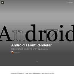 Android's Font Renderer