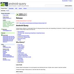 android-query - Simpler Coding for Android