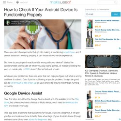 How to Check If Your Android Device Is Functioning Properly