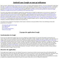 Android sans Google en tant qu'utilisateur