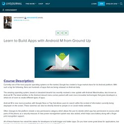 Learn to Build Apps with Android M from Ground Up: vernonemrit