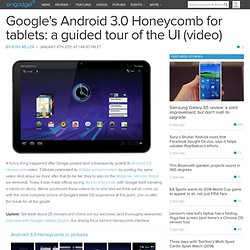 Google's Android 3.0 Honeycomb for tablets: a guided tour of the UI (video)