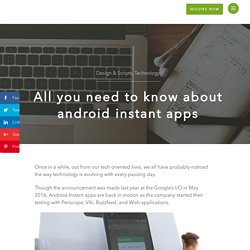 How Android Instant Apps will enhance the User Experience