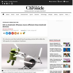 iOS vs Android: iPhones more efficient than Android devices