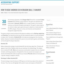 How to Beat Android 20 in Dragon Ball Z: Kakarot - Accounting Support