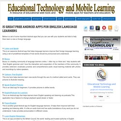 15 Great Free Android Apps for English Language Learners